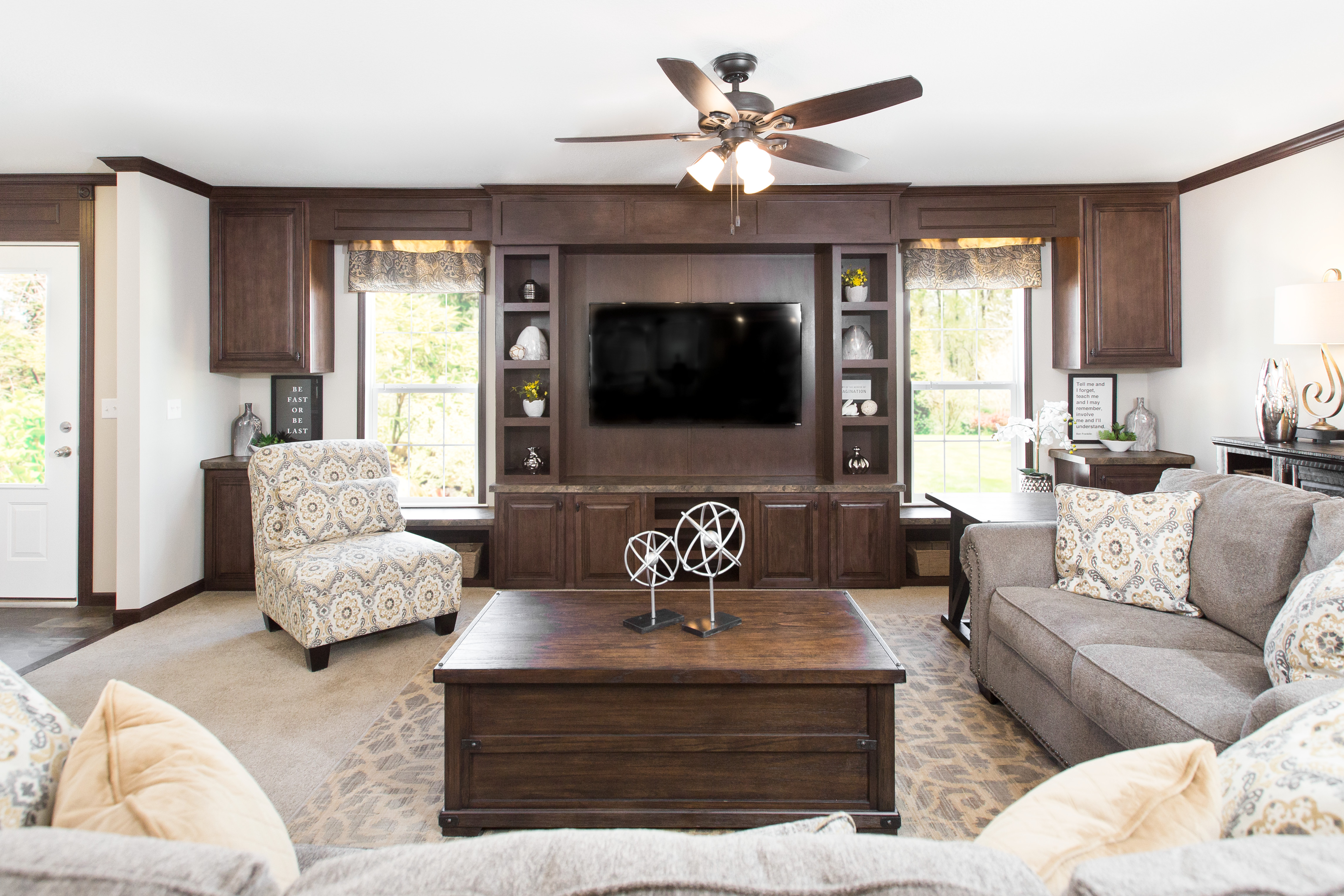 Create A Contemporary Manufactured Home Living Room On A