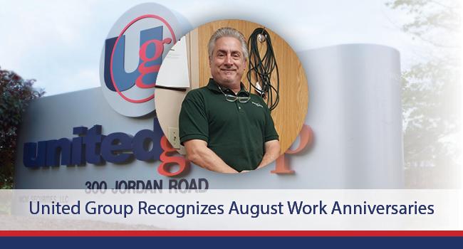 United Group Recognizes August Work Anniversaries