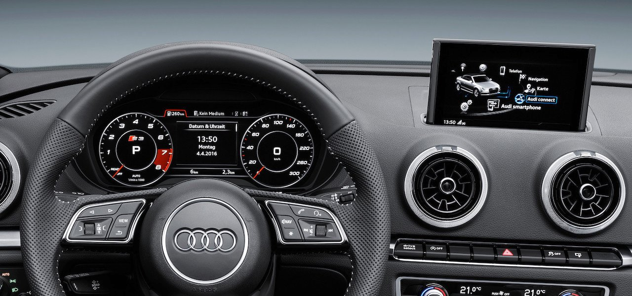 audi brings digital cockpit to the a3 family. Black Bedroom Furniture Sets. Home Design Ideas
