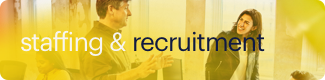 staffing recruitment button mobile