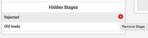Hidden Stages
