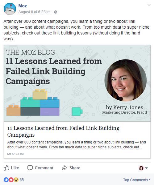 lead generation through facebook content