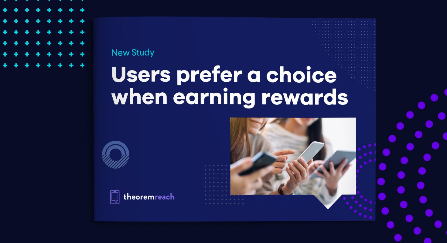Users prefer a choice when earning rewards