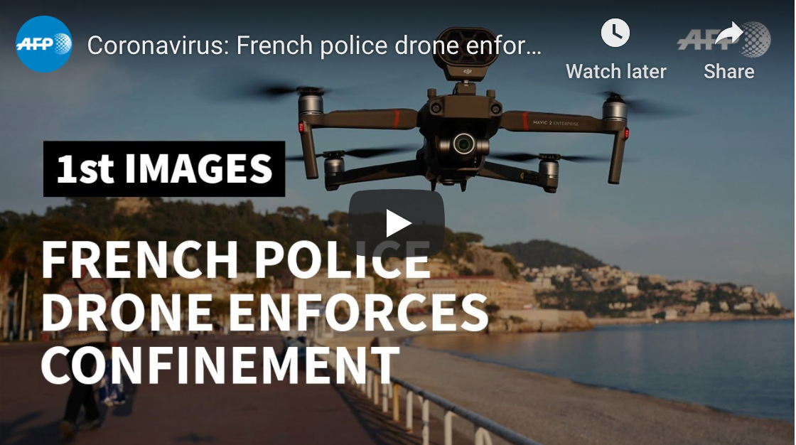 French police using drones to enforce lockdown