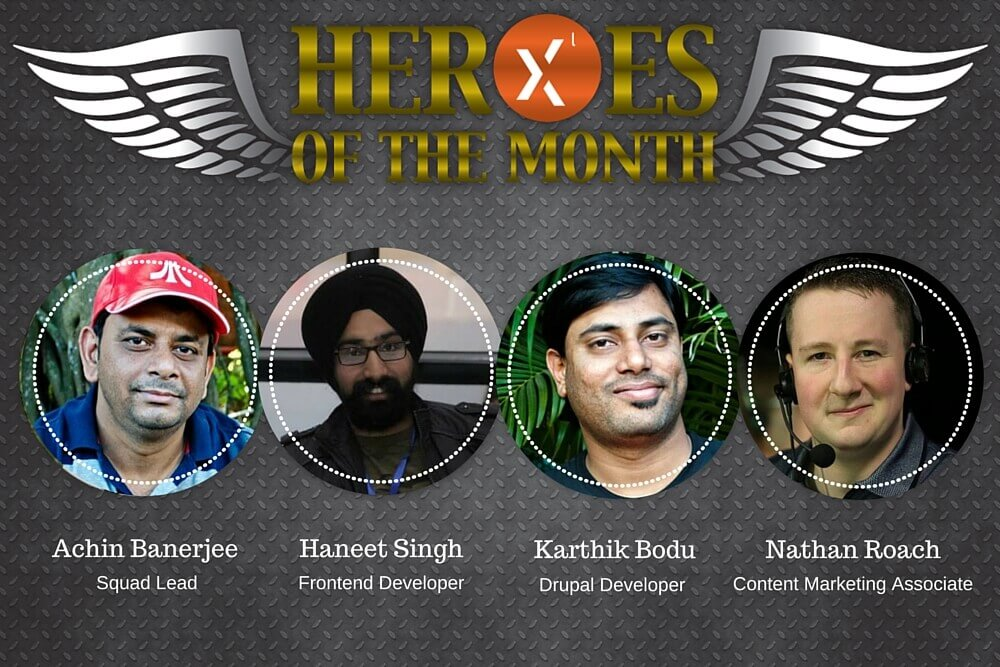 Axelerant Heroes of the month September 2015