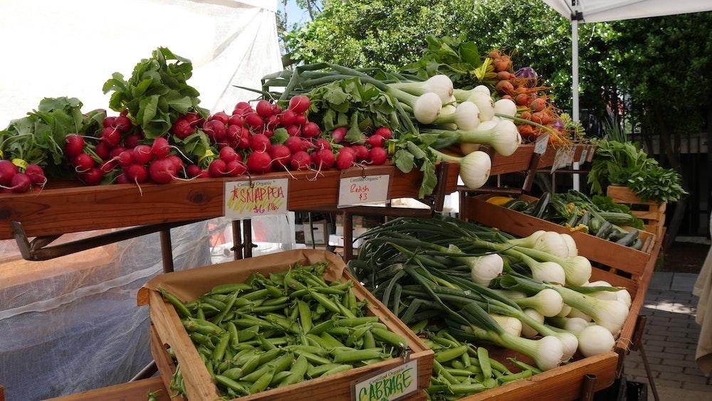 Local produce at a farmer's market