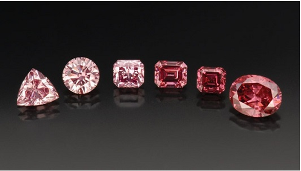 Pink and red Argyle diamonds
