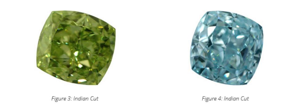 indian cut colored diamond