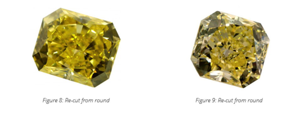 recut colored diamond