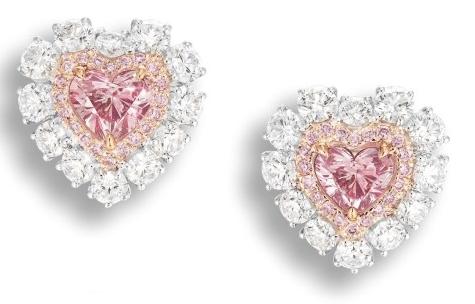 argyle pink earrings