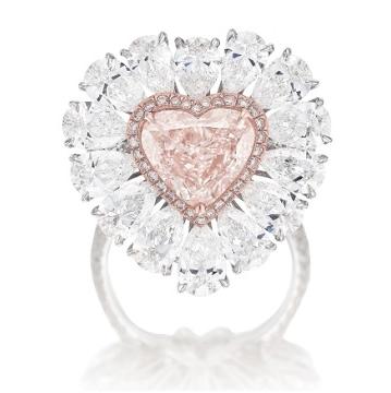 light pink diamond ring