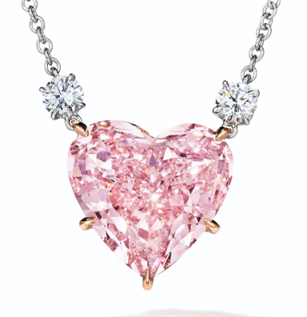 pink diamond pendant christies