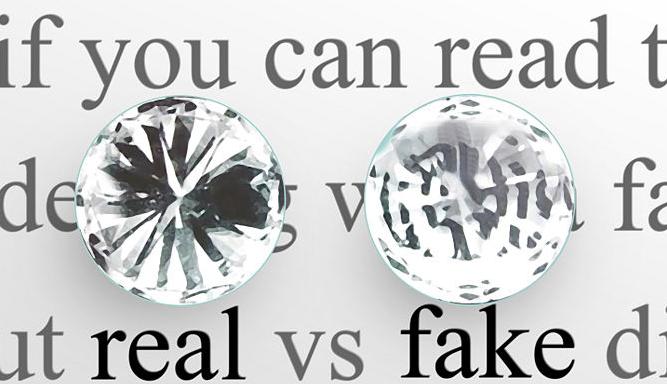real vs fake diamond