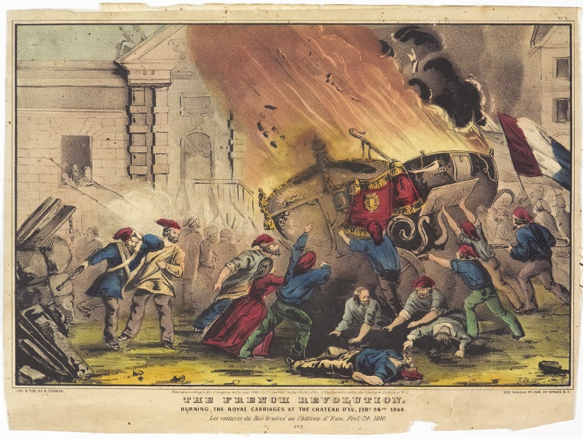 the-french-revolution-burning-the-royal-carriages-at-the-chateau-deu-feby-24th-1848-by-nathaniel-currier