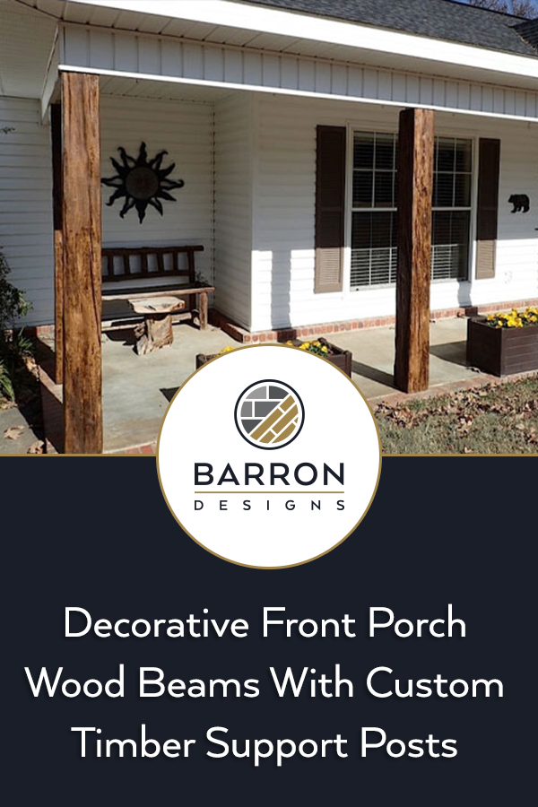 faux wood beams front porch beams