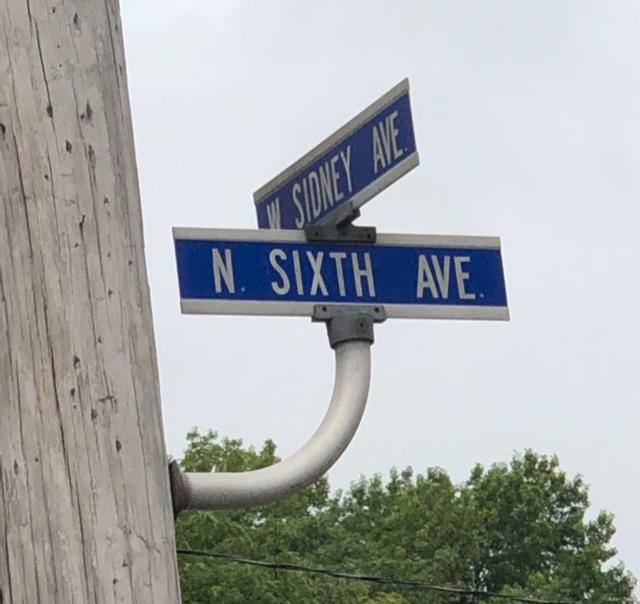 North 6th Street Sign