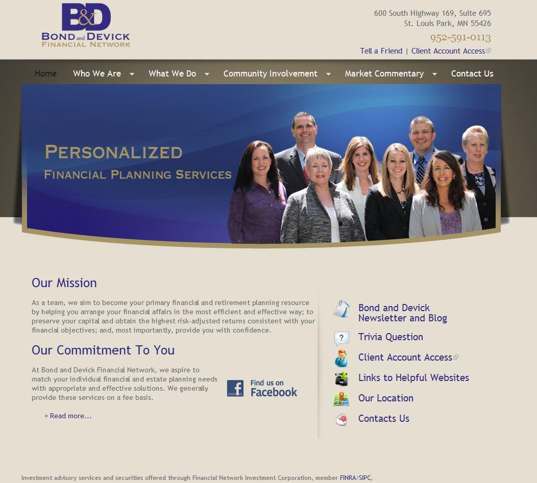 Bond and Devick describe the Advisor Websites Process