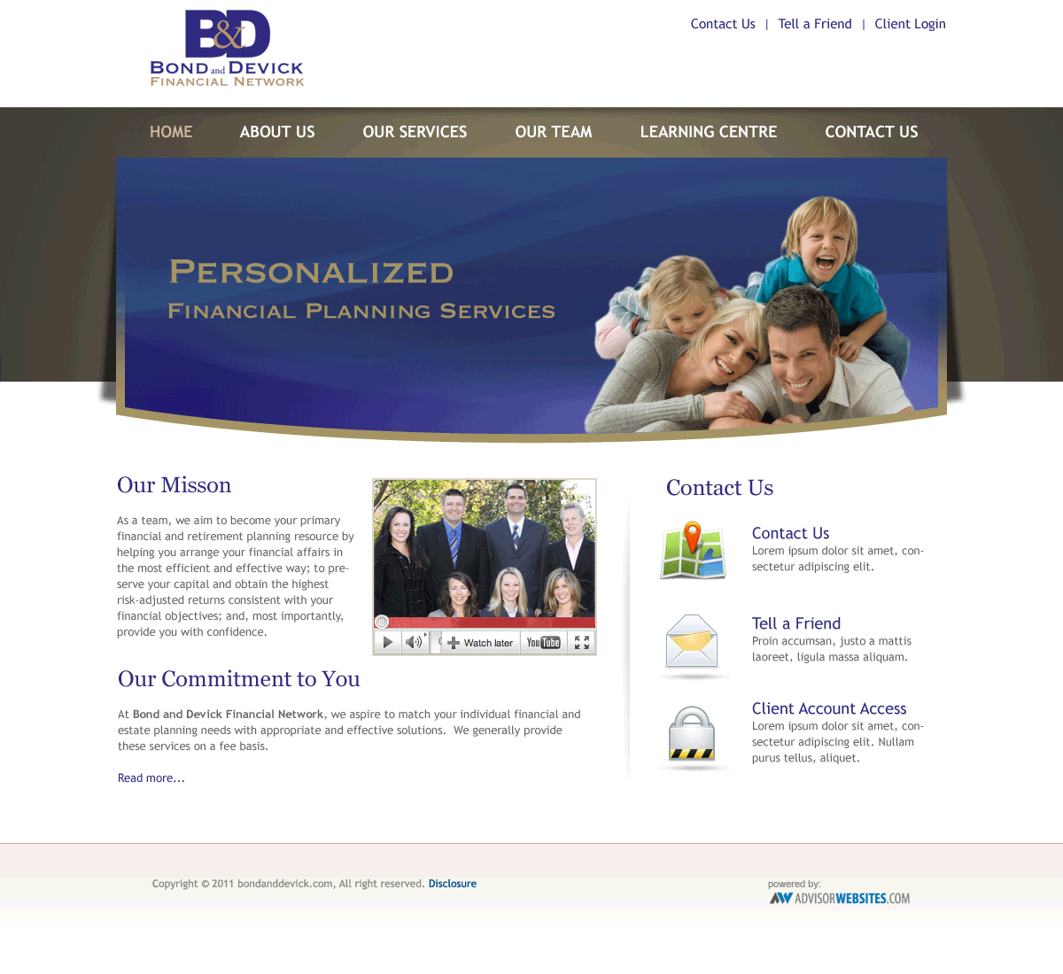 Web design trends on Financial Professionals' websites