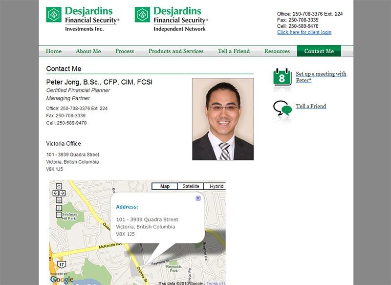Brand new financial website for Peter Jong