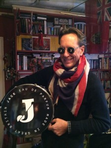 Richard E Grant, setting up for the Jack launch at Liberty