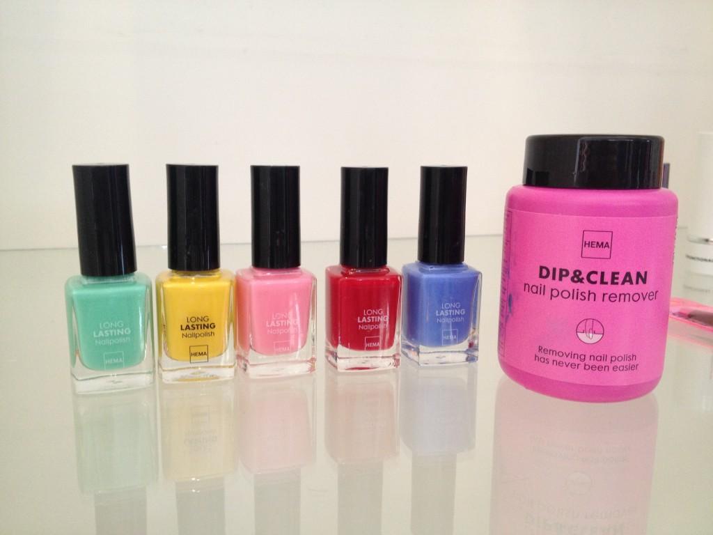 Sheer fun: nail colours from Hema