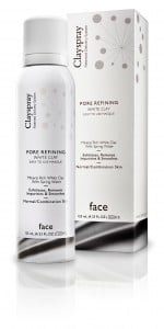 Clayspray Masque white pore refining Bottle and Box