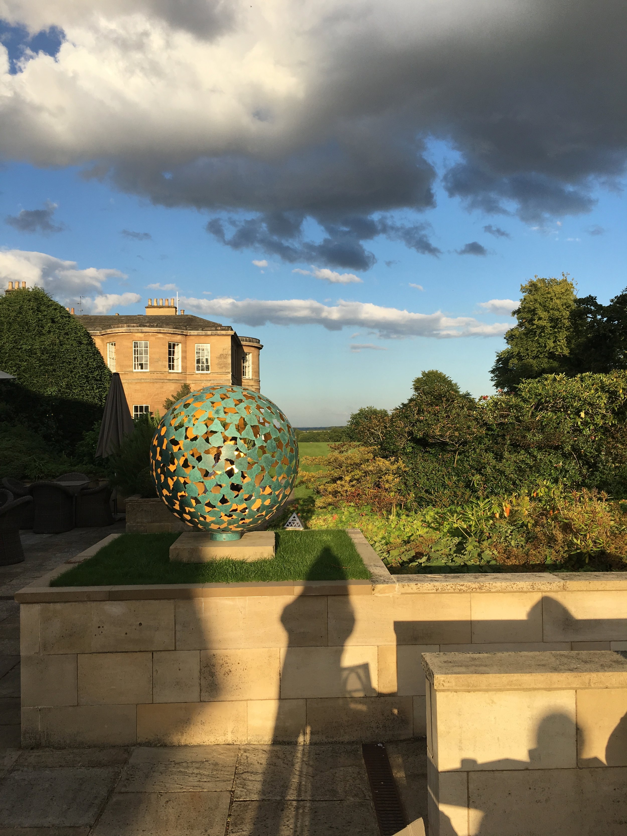 The view from the bar terrace at Rudding Park: a lovely spot for pre-dinner drinks