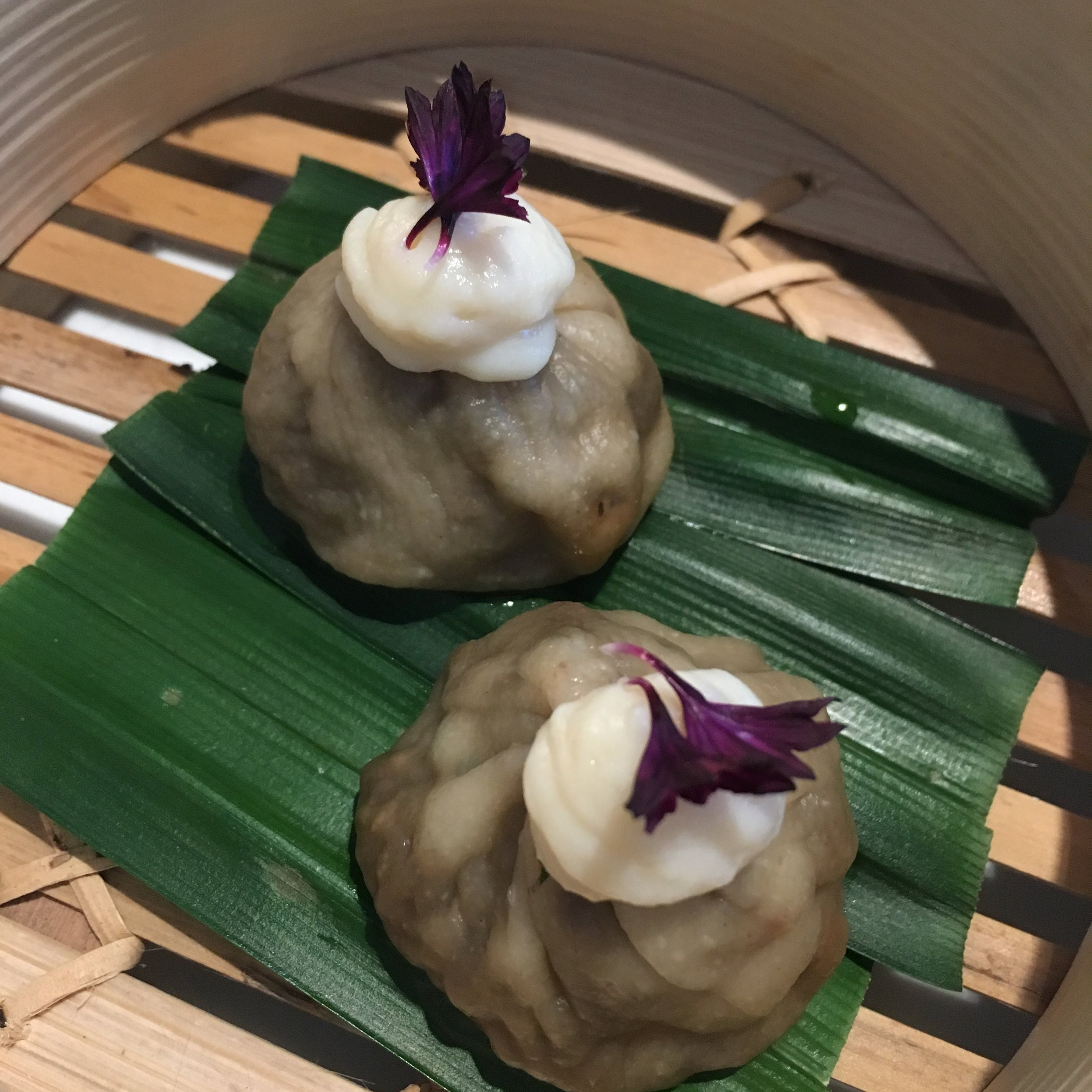 Cep dumplings- one of the many fab surprises on the blind tasting menu at Horto at Rudding Park