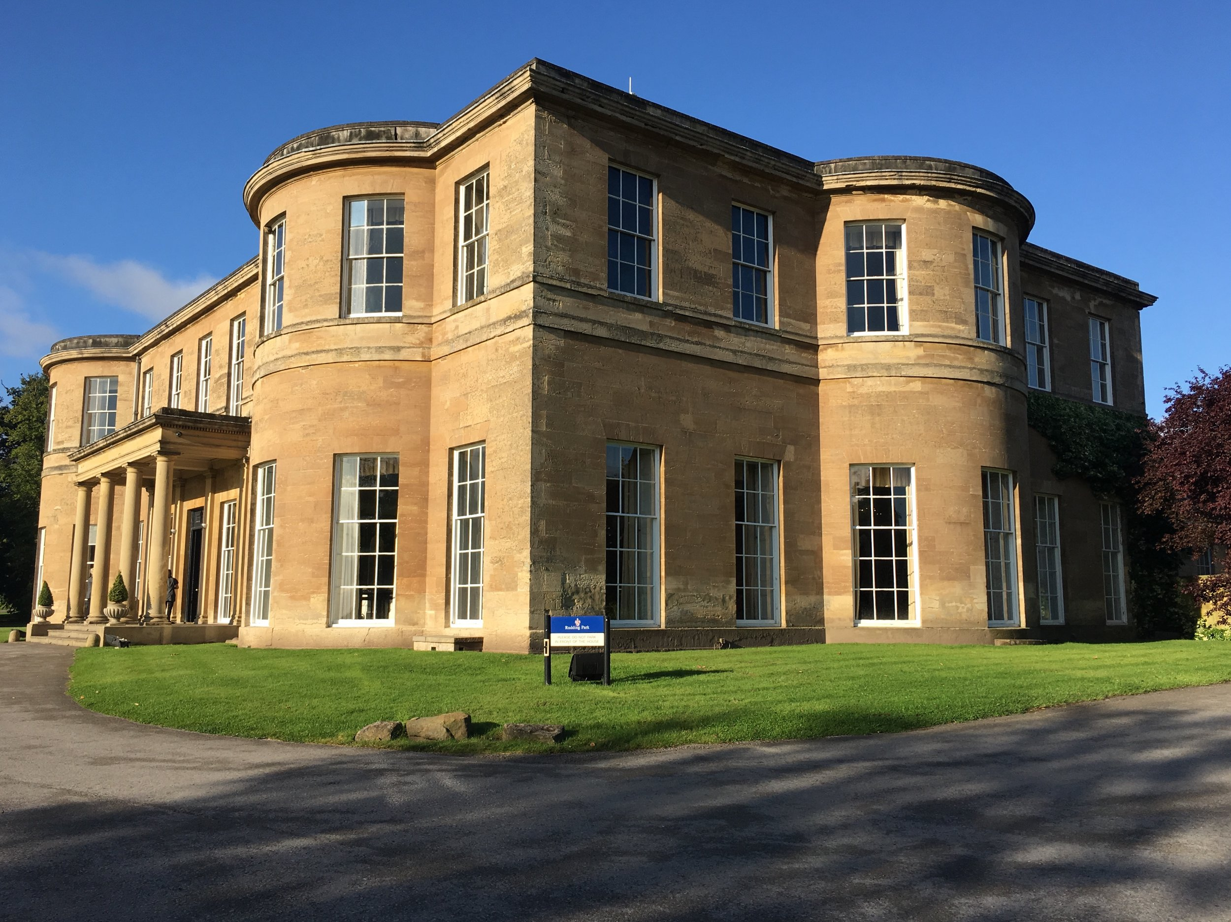 Magnificent: the old-gold stone of the old house at Rudding Park(the hotel and spa are at the back)