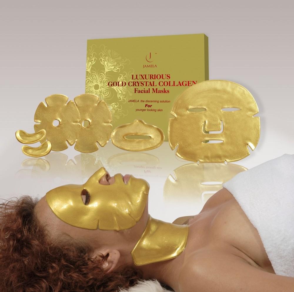Futuristic Pharaoh-style face masks: Jamela