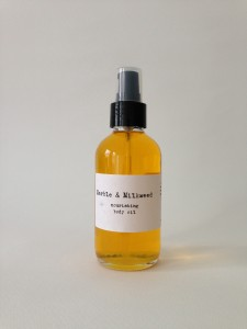 Warm and heady: Marble & Milkweed body oil