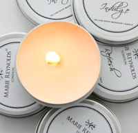 Light up your massage: Marie Reynolds travel candles