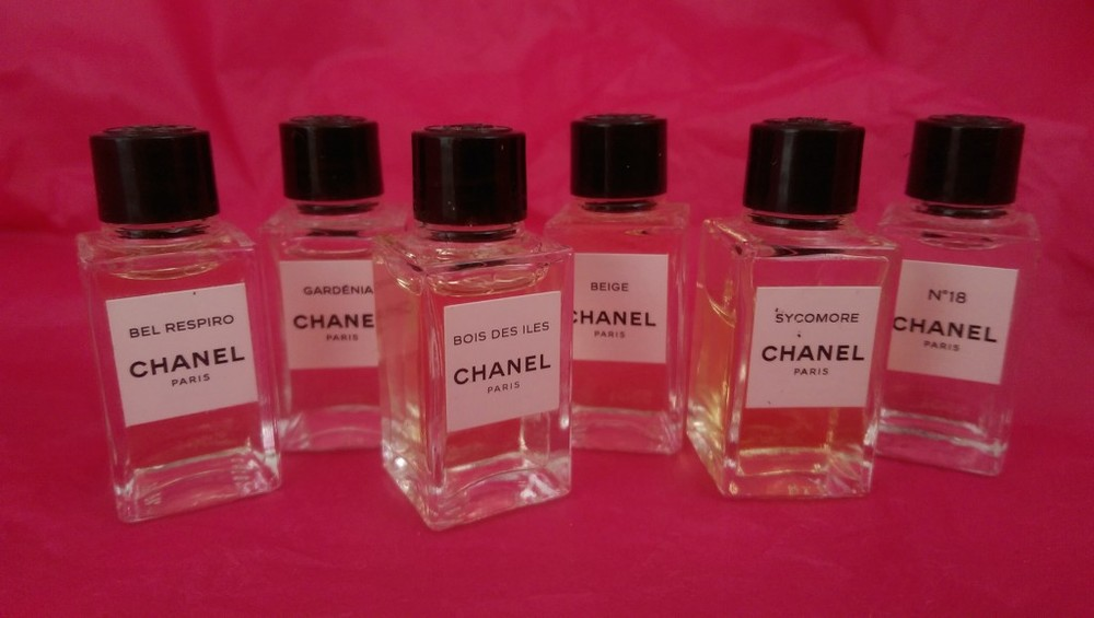 Little miracles: tiny sample bottles of Chanel's Les Exclusifs fragrances