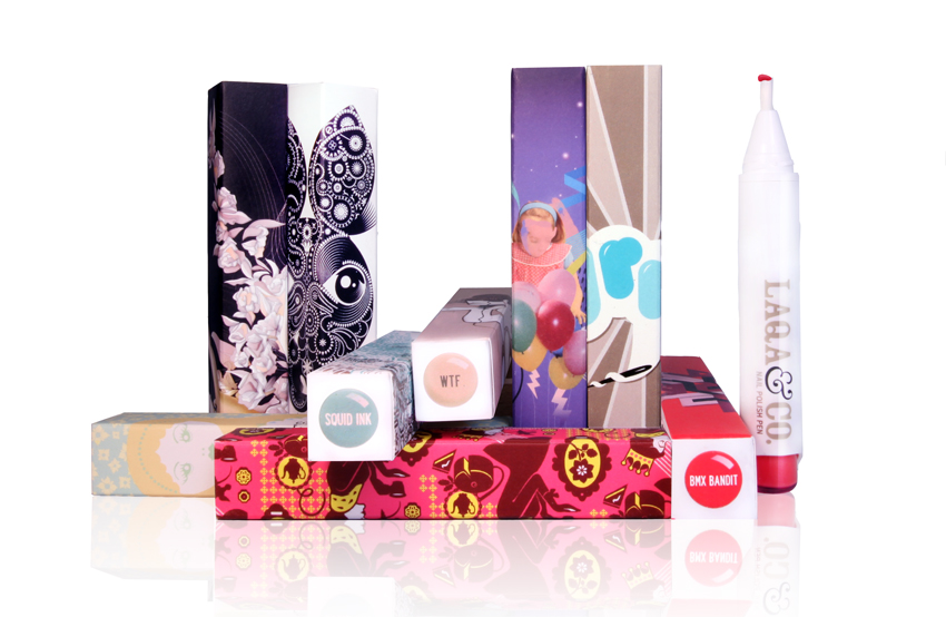 Eye-catching: Laqa & Co's distinctive packaging