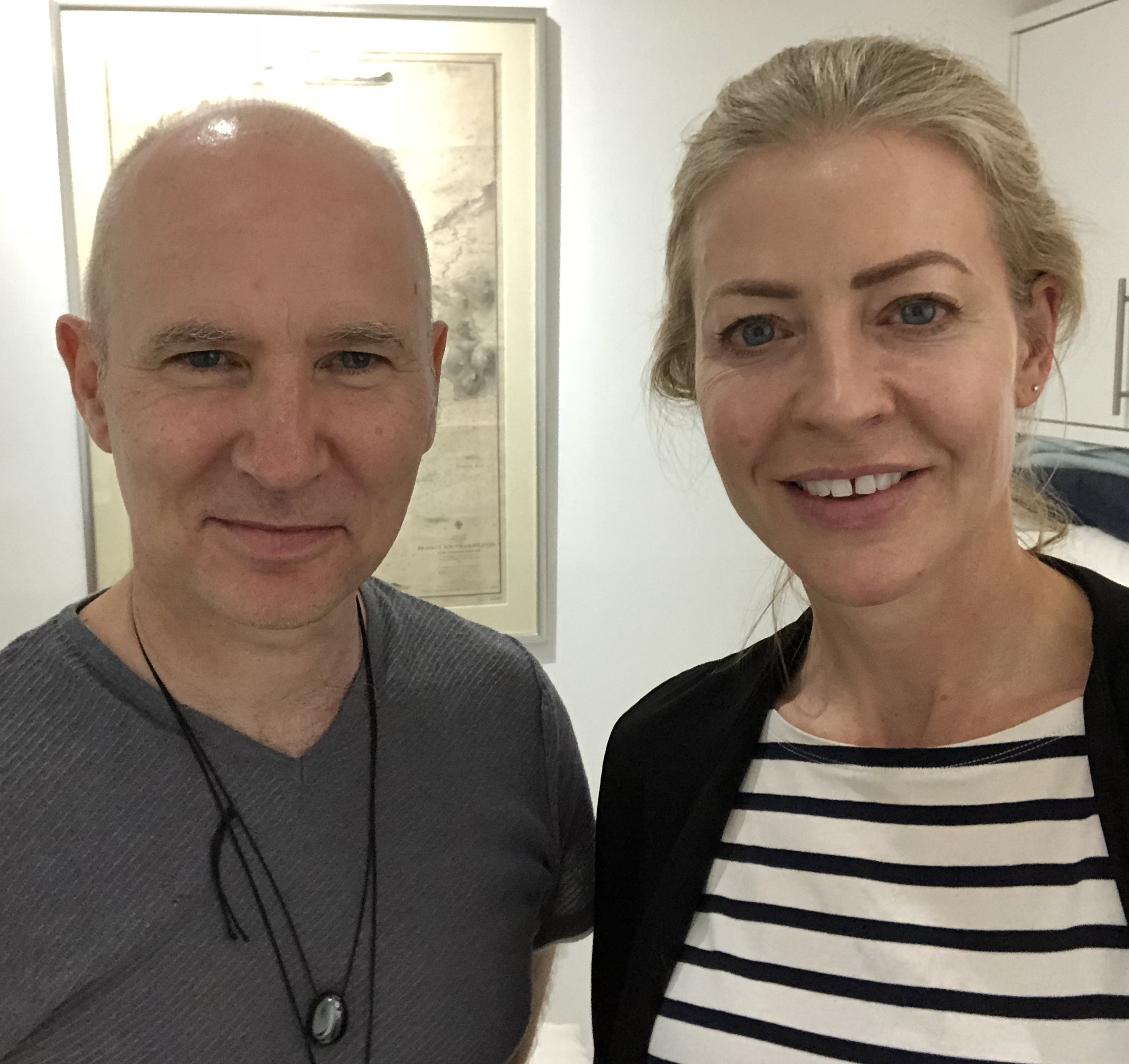 With Toby Aspin, the energy healer who can smooth your face without touching it