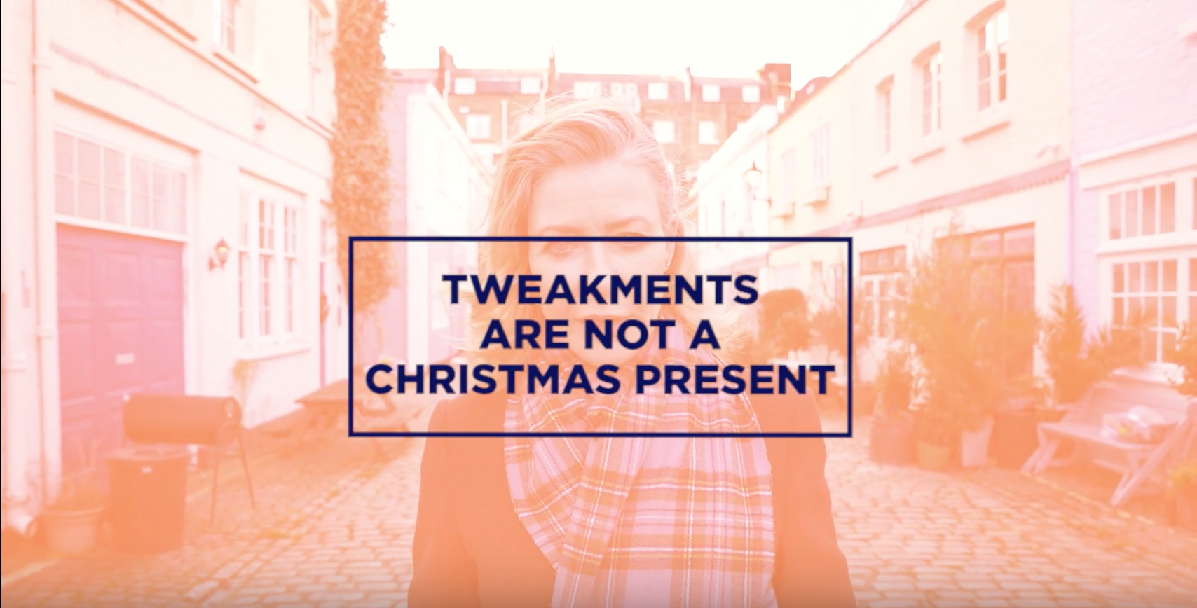 Screen grab from Alice's Tweakments Are Not A Christmas present video