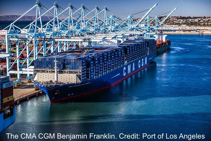 Megaship Congestion Port of Los Angeles