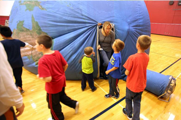 Mobile Ed's Earth Dome Earth Balloon Inflatable Globe