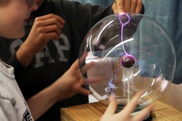 Plasma sphere at Kidz Science Safari - STEM for Kids