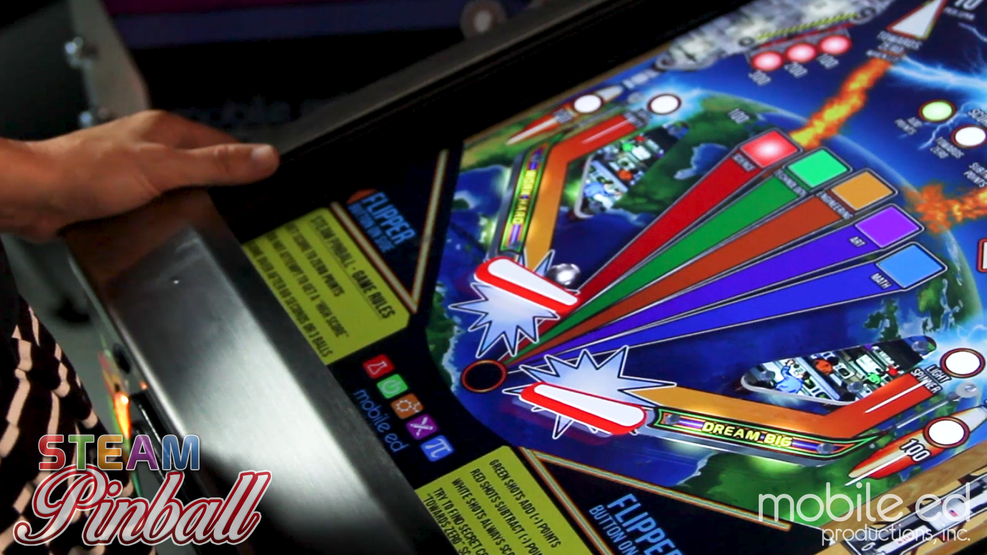 Introducing the World's First Educational Pinball Machine