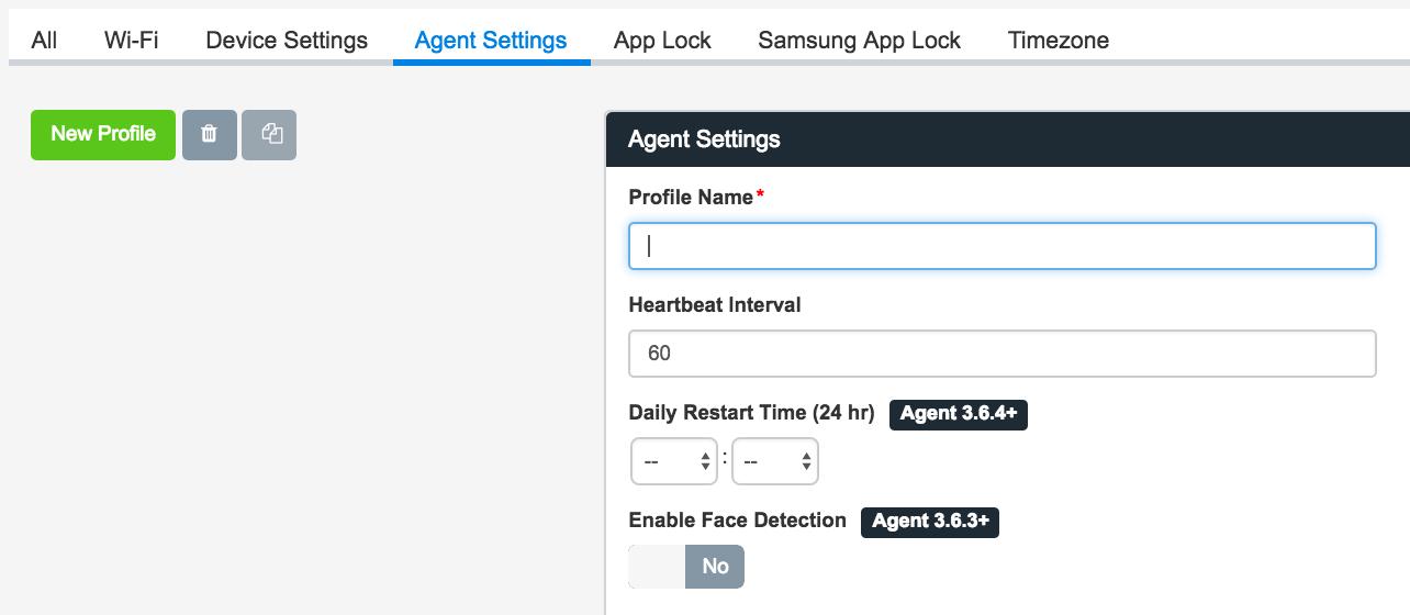 agent settings screenshot