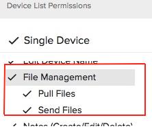 file manager dropdown screenshots