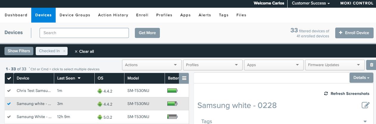 device screenshot