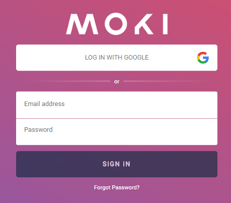 moki login with email address