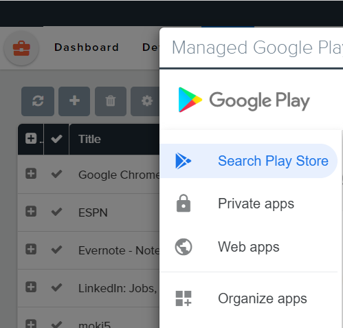 private apps google play