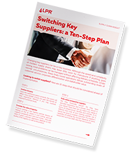 LPR Supply Chain Insight Mockup  ten-step plan small
