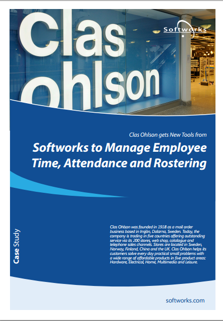 How retailer Clas Ohlson is using Softworks Time& Attendance and Rostering to satisfy Business