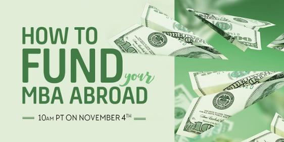 How to fund your MBA abroad - Register for the webinar!