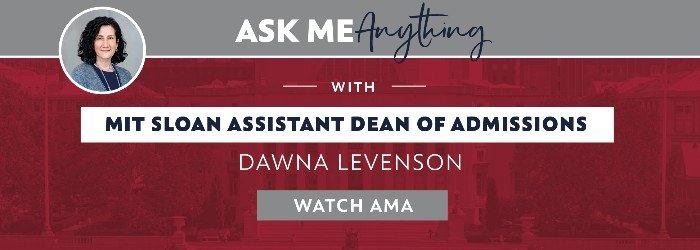 Listen to MIT Sloan questions answered by the MIT Sloan admissions team in this AMA. Watch now!