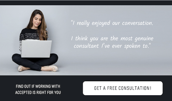 Find out if working with Accepted is right for you. Get a free consultation >>